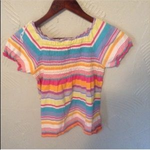 Kid's Hanna Andersson Striped Bright Colorful Top